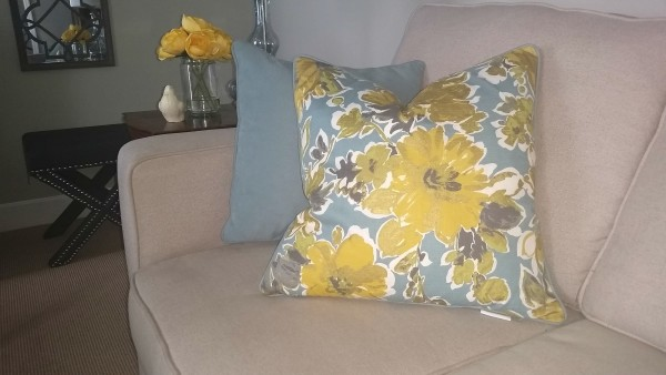 yellow floral pillows