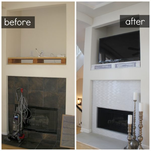 Fire Place Before And After