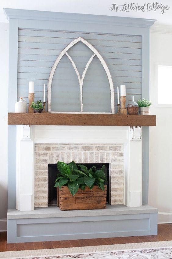 Popular Fireplace Facelifts (with how-to links!) - Home By Hattan IE58