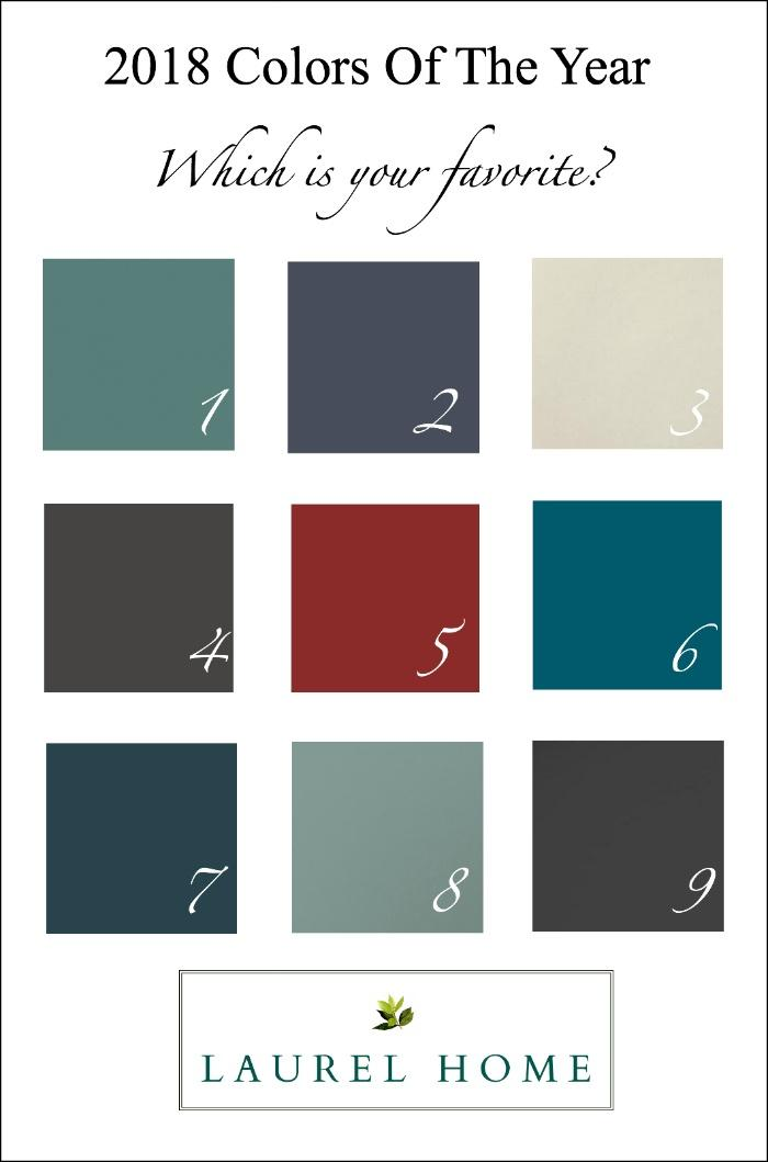 My Take On The Colors Of The Year And Decorating Trends Home - Paint colors for bathrooms 2018